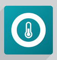 flat thermometer icon vector image