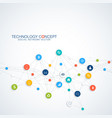 abstract business infographic cloud vector image