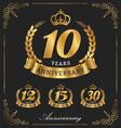 10 years anniversary decorative logo vector image