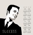 2016 Business Man calendar vector image