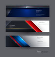 abstract blue red and black metallic with light vector image vector image