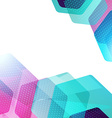 Abstract hexagon geometric colorful background vector image vector image