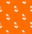acorn pattern orange vector image vector image