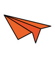 airplane paper isolated icon vector image vector image