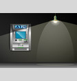 atm - automated teller machine gray wall metal vector image vector image