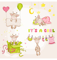 Baby Girl Giraffe Set - Baby Shower Card
