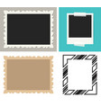 blank instant photo frame vector image