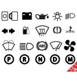 car part icon set 15 vector image vector image