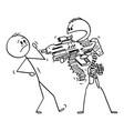 cartoon heavily man with generic futuristic vector image vector image
