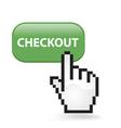 Checkout Button vector image vector image