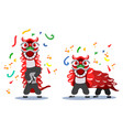 chinese lion dance vector image vector image