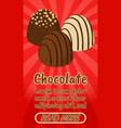 chocolate concept banner comics isometric style vector image