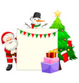 christmas themed paper framae vector image vector image