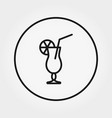 cocktail universal icon editable thin vector image