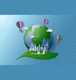 concept of eco friendly and environment vector image