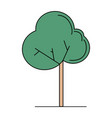 cute green tree vector image