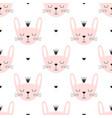 cute seamless bunny princess pattern vector image vector image