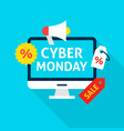 cyber monday flat concept vector image
