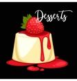 Delicious sweet dessert cartoon vector image vector image