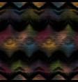 diamond ikat fuzzy blurry seamless pattern swatch vector image