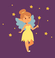 fairy princess girl character cute vector image vector image