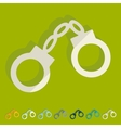 Flat design handcuffs vector image
