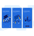 flat design oneboarding concepts - isometric 4 vector image vector image