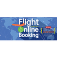 Flight Online Booking For Sale 1500x600 Banner vector image vector image