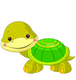 Fun zoo Turtle vector image vector image