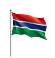 gambia flag on a white vector image