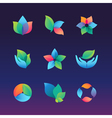 gradient ecology vector image