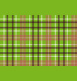 green brown plaid fabric texture seamless pattern vector image vector image
