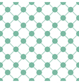 Green Polka dot Chess Board Grid White vector image vector image