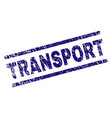 grunge textured transport stamp seal vector image vector image
