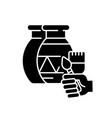 handicraft black glyph icon vector image vector image