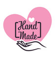 handicrafts store or handmade gifts shop isolated vector image