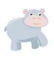 happy hippo baisolated on white background vector image