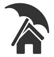 Home under Umbrella Flat Icon vector image vector image