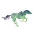 horse of geometric shapes vector image