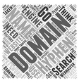 Hyphenated Domain Names Word Cloud Concept vector image vector image