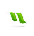 Letter N eco leaves logo icon design template vector image vector image