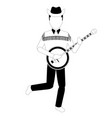 male avatar playing the banjo vector image