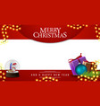 merry christmas and white template for your vector image