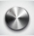 metal volume button vector image vector image
