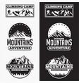 mountains logo badge 3 vector image vector image