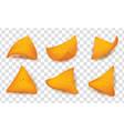 nachos corn chips set on transparent background vector image