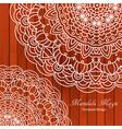 ornamental mandala vector image vector image
