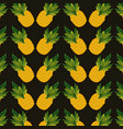 pineapples background design vector image vector image