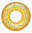 poppy bagel icon vector image