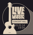 Poster for live music concert with guitar